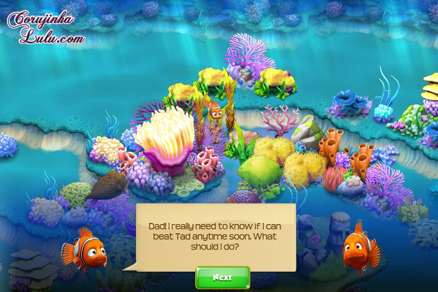 App Nemo's Reef: o jogo da Disney Pixar + dicas procurando nemo dory marlin marlyn peixe palhaço game peixes raros recife coral celular smartphone corujinhalulu | ©CorujinhaLulu.com