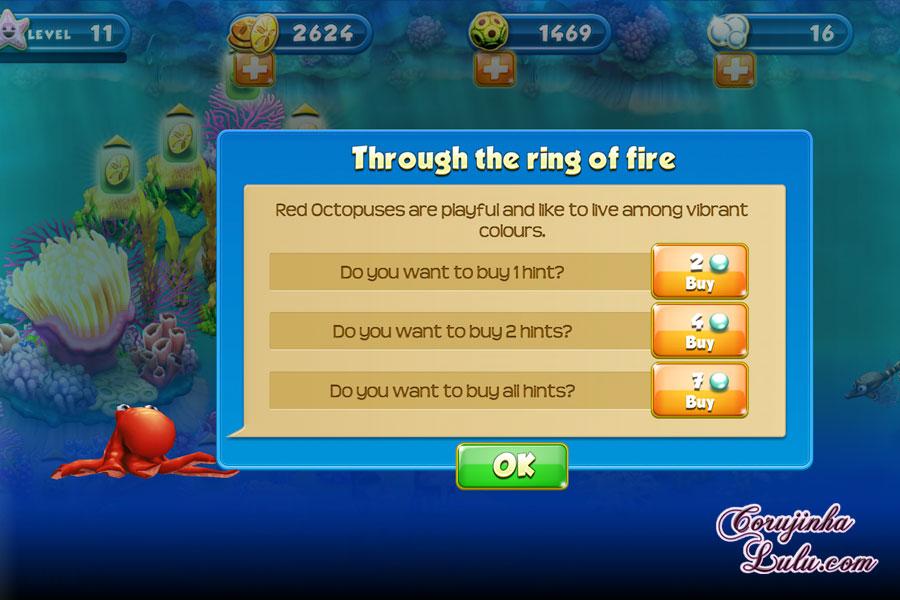 App Nemo's Reef: o jogo da Disney Pixar + dicas procurando nemo dory game peixes raros recife coral red octopus polvo vermelho celular smartphone corujinhalulu | ©CorujinhaLulu.com