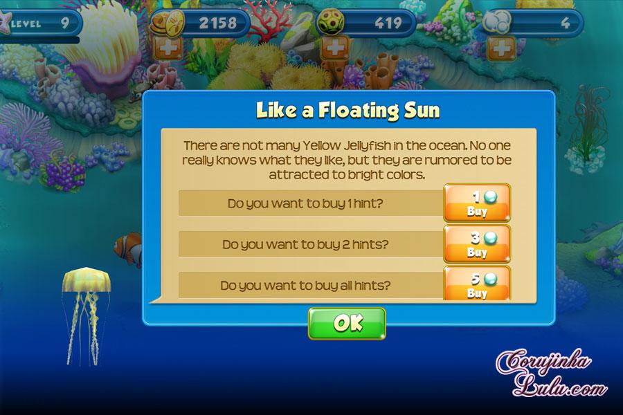 App Nemo's Reef: o jogo da Disney Pixar + dicas procurando nemo dory game peixes raros recife coral yellow jellyfish amarela água-viva água viva celular smartphone corujinhalulu | ©CorujinhaLulu.com