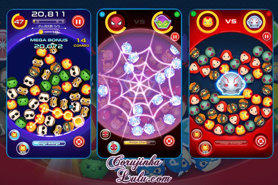 marvel tsum tsum disney app jogo game aplicativo novidades gameplays corujinhalulu