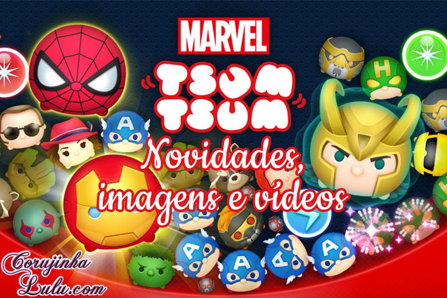marvel tsum tsum disney app game jogo novidades imagens videos corujinhalulu