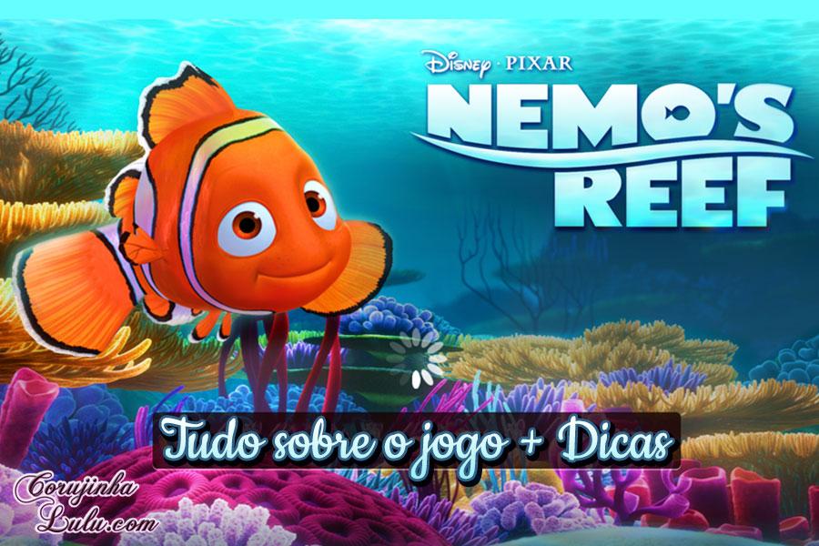 aplicativo App Nemo's Reef: o jogo da Disney Pixar + dicas procurando nemo dory game peixes raros recife coral celular smartphone | ©CorujinhaLulu.com