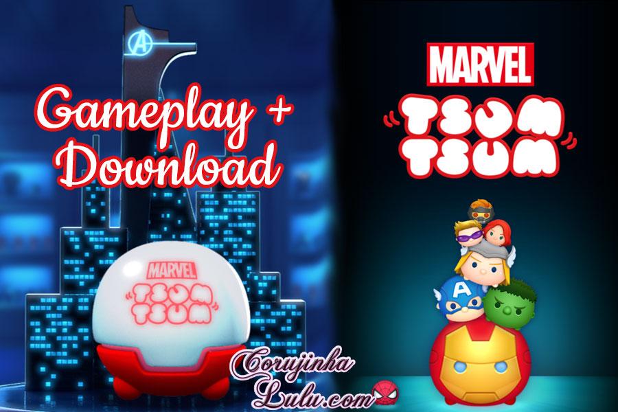 capa gameplay download marvel tsum tsum novidade dicas disney game jogo app mobile
