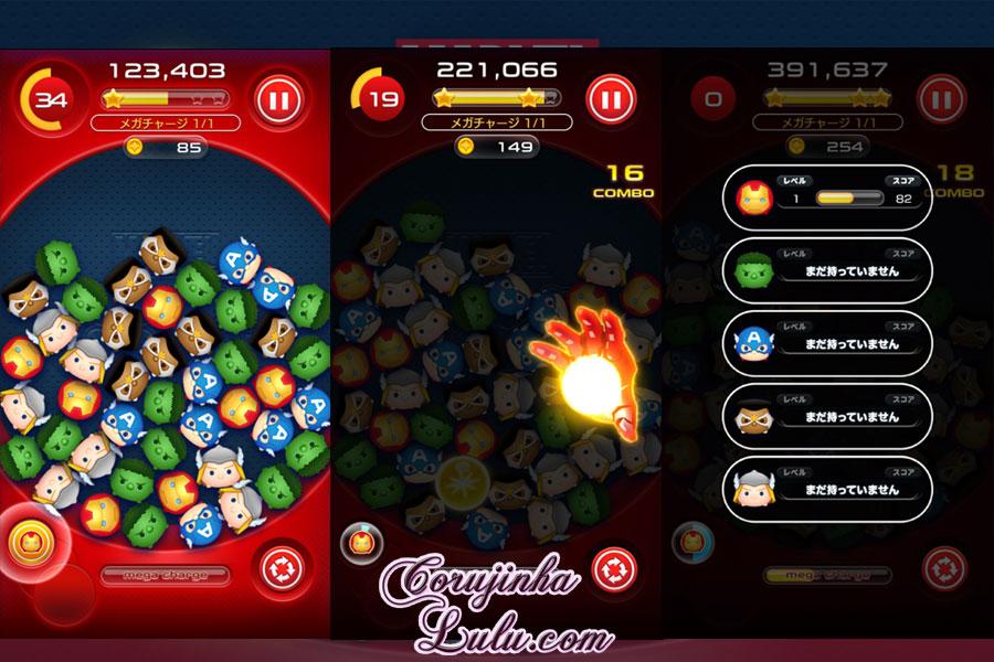 marvel tsum tsum gameplay corujinhalulu corujinha lulu game app jogo novidade disney rpg
