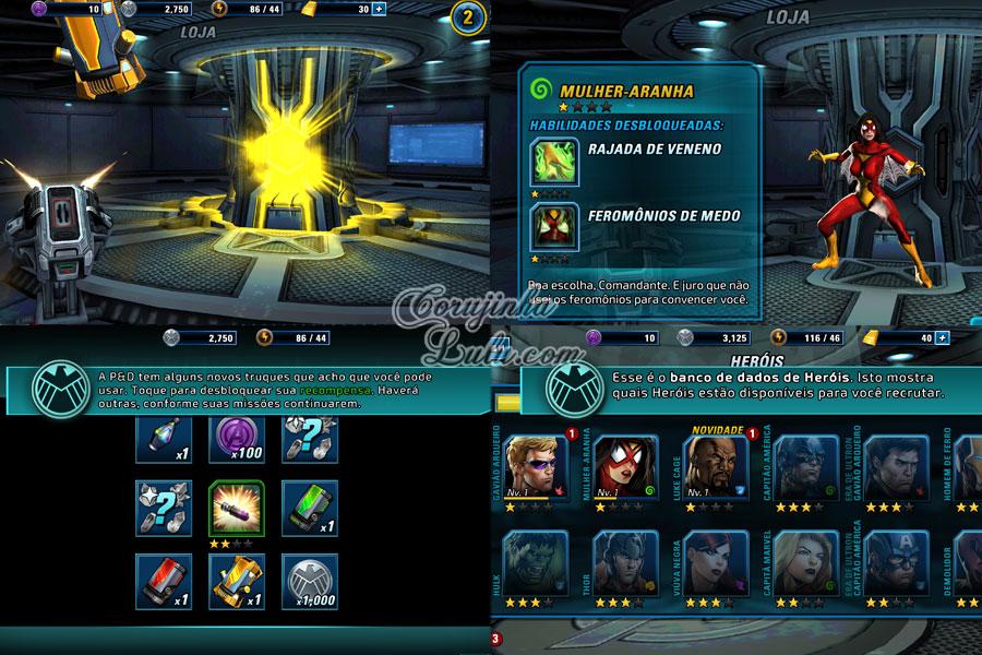 gameplay disney Marvel: Avengers Alliance 2 marvel os vingadores app aplicativo game jogo celular tablet iphone ipad móvel corujinhalulu corujinha lulu