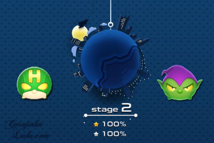 tradução japonês português fases missões estágios stage 1 stage 2 marvel tsum tsum app jogo game disney vingadores homem aranha duende verde corujinhalulu
