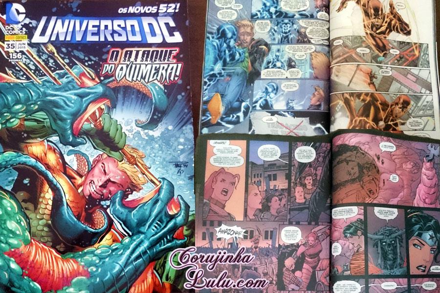 Universo DC: O Ataque do Quimera dc comics warner bros hq história em quadrinhos aquaman unboxing fan box 3 super heróis vilões super poderes gibi revista história marvel corujinhalulu © corujinha lulu