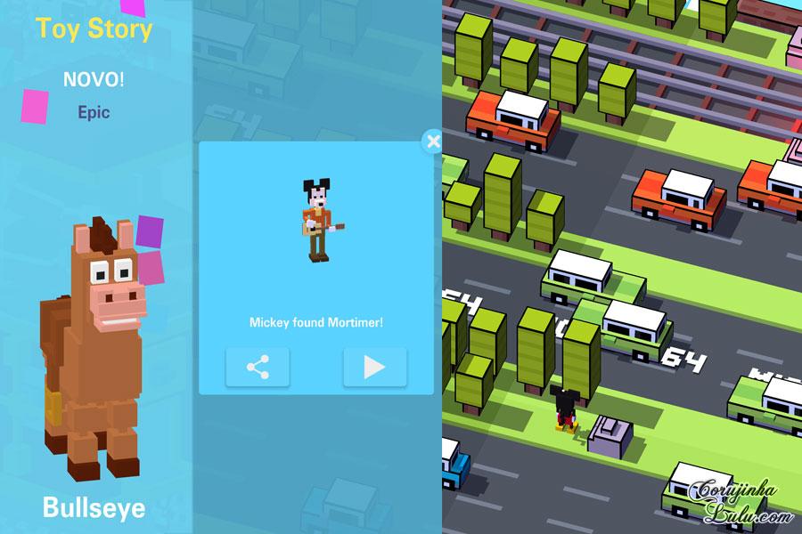 disney crossy road jogo game gameplay dicas truques app hipster whale corujinhalulu
