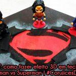 Diy: Como fazer efeito 3D em tecido – Quadro, caderno ou camiseta Batman vs Superman | Corujices da Lu