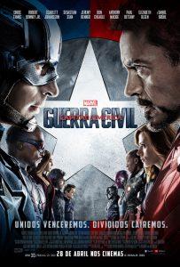 poster filme capitão américa captain america guerra civil war movie marvel studios disney br brazil brasil