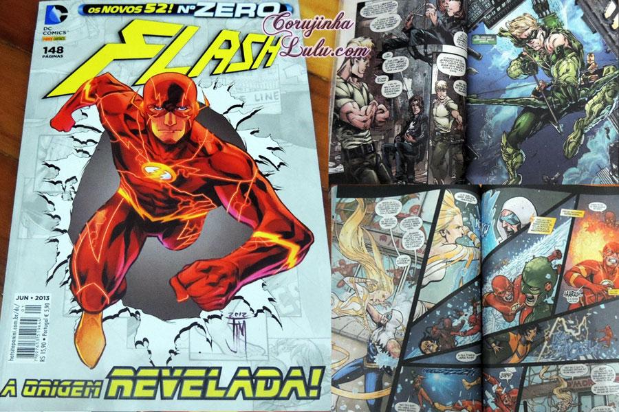 Universo DC os novos 52 zero the flash dc comics warner bros hq história em quadrinhos unboxing fan box 4 super heróis vilões super poderes gibi revista história marvel março 2016 corujinhalulu © corujinha lulu
