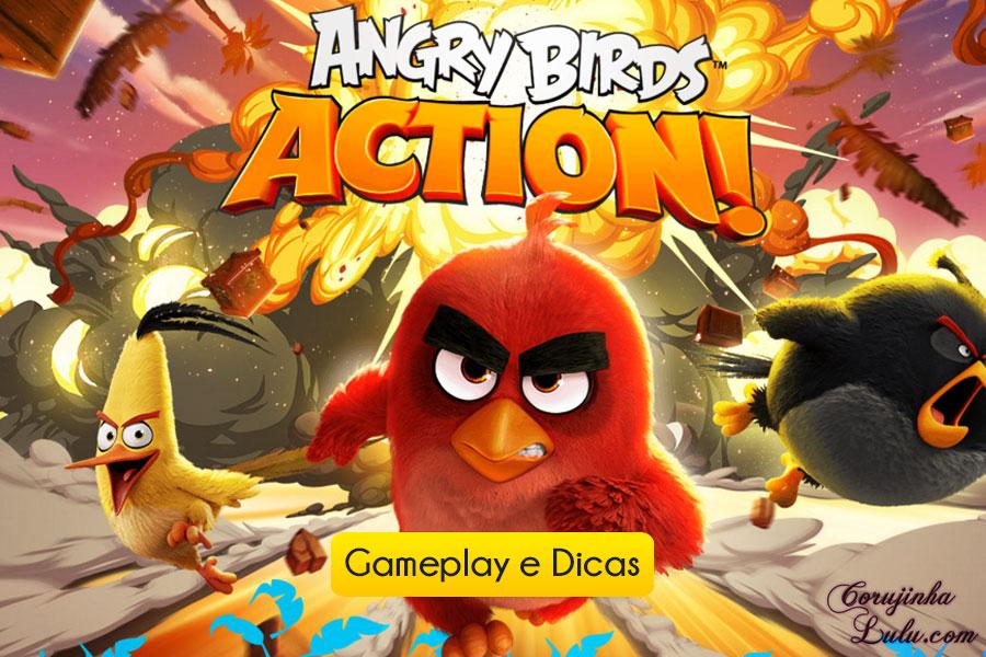 angry birds action gameplay game jogo app celular tablet iphone ipad filme movie  rovio 2016 corujinhalulu aparelho móvel mobile