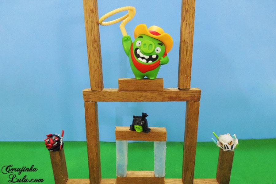 diy maquete diorama angry birds filme movie jogo game coleção mc donalds lanche feliz cajita happy meal corujices da lu corujinhalulu faça você mesmo mesma star wars telepod 2016 porco