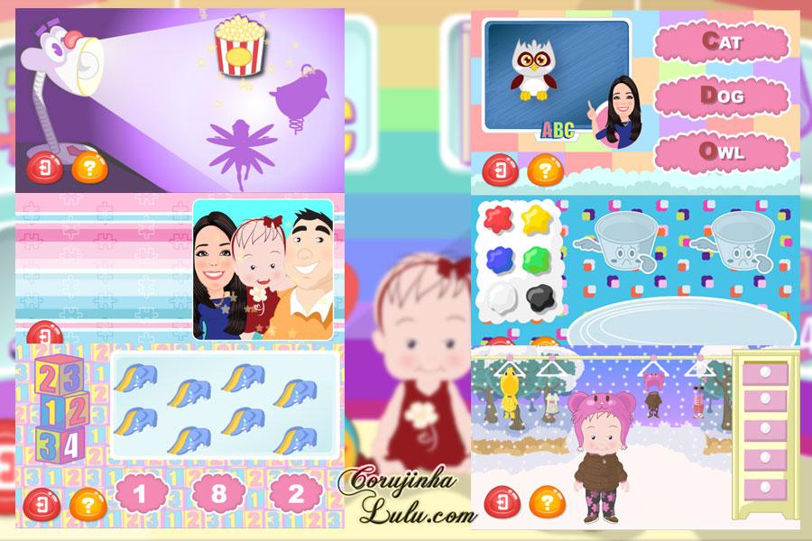 flavia calina as aventuras da baby v ticjoy tic joy gameplay mini minijogos minigames game jogo gratuito free app celular pc móvel android ios iphone ipad tablet microsoft corujinhalulu