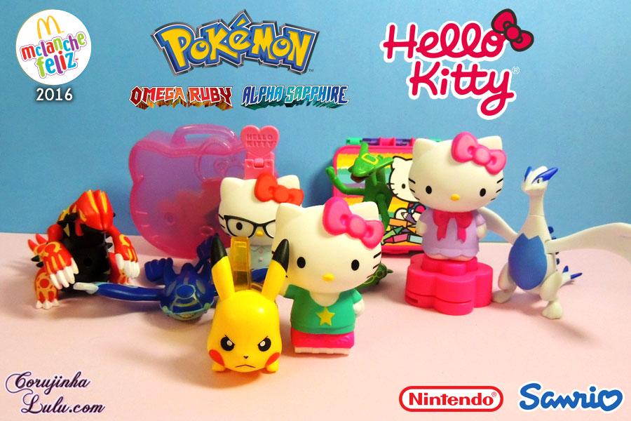 Coleção completa: Pokémon e Hello Kitty (2016) | Mc Lanche Feliz