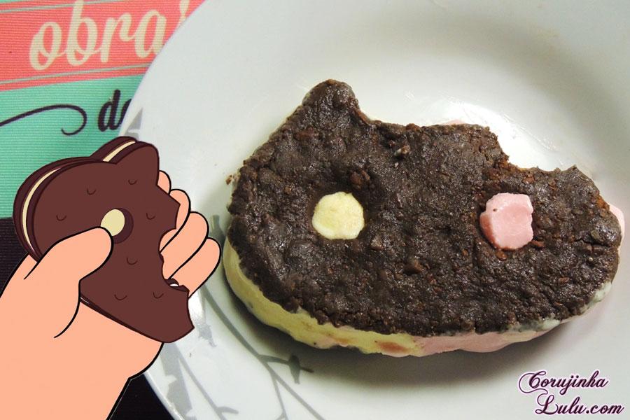 Receita de sanduíche de sorvete do Biscoito Gatinho Steven Universe Universo Cartoon Network De Bico Cheio | ©CorujinhaLulu.com