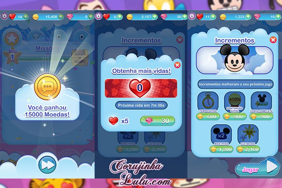 gameplay disney emoji blitz jogo review game pixar dicas emojis móvil mobile celular tablet iphone ipad android google play itunes ios corujinhalulu