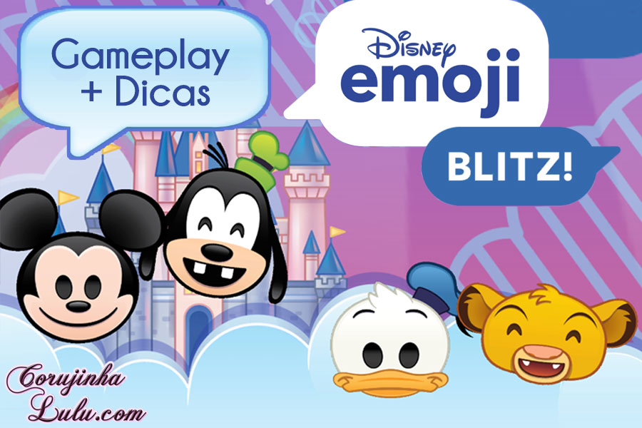 gameplay disney emoji blitz jogo review game pixar dicas emojis móvil mobile celular tablet iphone ipad android google play itunes ios corujinhalulu