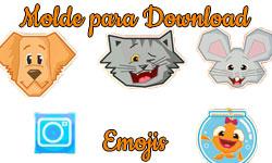 molde cúmplices de um resgate emojis animais c1r download grátis corujinhalulu