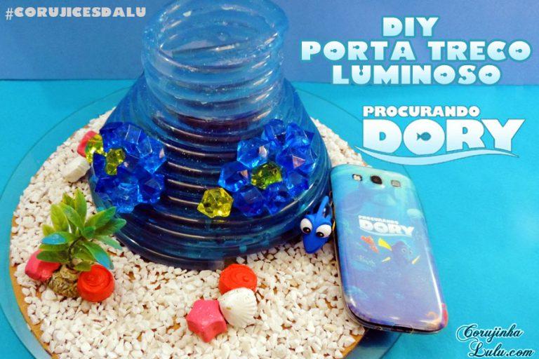 Diy: Como fazer Luminária / Porta treco Líquido Luminoso de Procurando Dory | Corujices da Lu