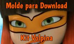 Download grátis gratuito como fazer faça você mesmo diy Molde máscara antifaz Volpina Miraculous As Aventuras de Ladybug | ©CorujinhaLulu.com