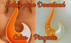 Download grátis gratuito como fazer faça você mesmo diy Molde Colar Pingente Volpina Miraculous As Aventuras de Ladybug | ©CorujinhaLulu.com