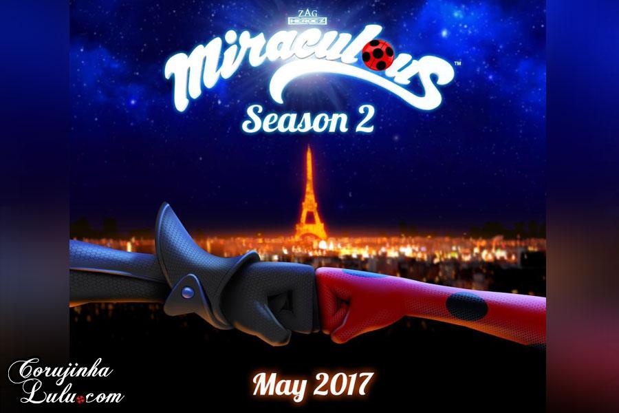 data oficial jeremy zag herows estreia 2 2ª segunda temporada webserie webisodes webisódios miraculous as aventuras de ladybug e cat noir chat corujinhalulu