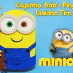 Diy Minions: Como fazer capinha de celular / tablet do Bob e seu ursinho | Corujices da Lu
