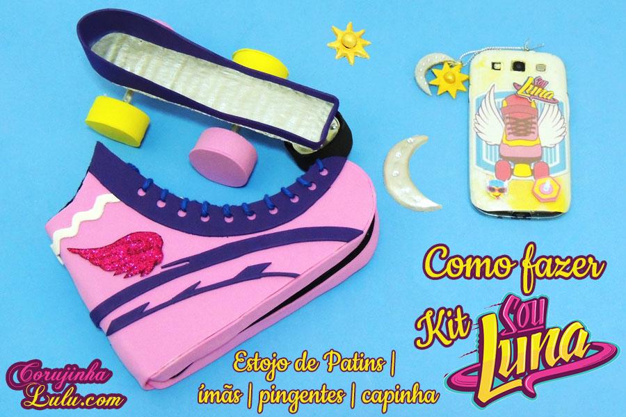 Diy Sou Luna Soy Luna Como fazer tutorial Estojo de Patins Ímãs colar Pingentes lua sol Capinha celular Corujices da Lu luciene sans ©CorujinhaLulu.com