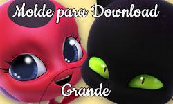 Download grátis gratuito Molde Grande da Tikki e do Plagg kwamis Miraculous As Aventuras de Ladybug corujices da lu corujinhalulu corujinha lulu cat chat gato noir ©CorujinhaLulu.com