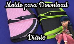Download gratuito como fazer Molde Diário com Porta Celular Secreto Marinette e Cat Noir (Miraculous As Aventuras de Ladybug) corujices da lu corujinha lulu corujinhalulu ©CorujinhaLulu.com