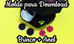 Download gratuito Molde anel brincos miraculous ladybug cat noir Marinette adrien As Aventuras de Prodigiosa corujinhalulu corujinha lulu corujices da lu ©CorujinhaLulu.com