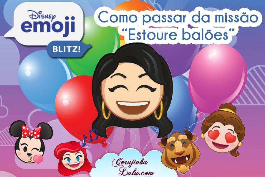 """Disney Emoji Blitz: Como passar da missão """"Estoure 35 balões na tela de resultados da jogada"""""""