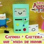 Diy Hora de Aventura: Como fazer Capinha + Carteira do BMO que muda de humor | Corujices da Lu