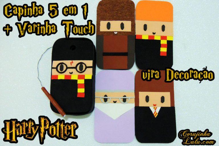 Diy Harry Potter: Como fazer Varinha Touch + Capinha 5 em 1 multiuso do Harry, Rony, Hermione, Hagrid e Dumbledore