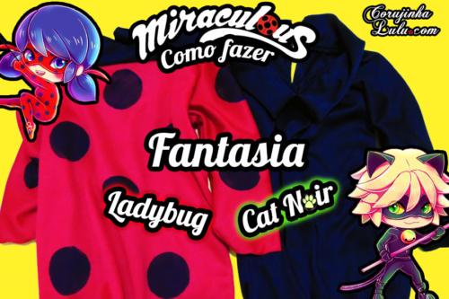 Diy Miraculous: Como fazer a Fantasia / Roupa da Ladybug e do Cat Noir | Corujices da Lu