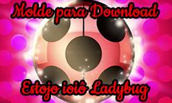 Download gratuito grátis Molde Diy Miraculous: Como fazer estojo do Bastão do Cat Noir e do ioiô da Ladybug + Bolsa + ioiô gigante | Corujices da Lu Miraculous As Aventuras de Ladybug corujinhalulu corujinha lulu ©CorujinhaLulu.com