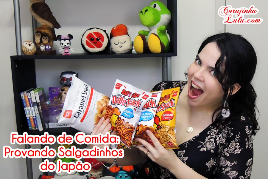 Provando Salgadinhos do Japão - Comidas Japonesas / Falando de Comida daiso japan brasil caramel snack noodle big star miojo macarrão arroz wasabi | ©CorujinhaLulu.com