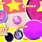Diy Steven Universo: Kit Escolar com Caderno e Marcador de Páginas + Estojo Gem + Mochila | Corujices da Lu