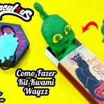 Diy Miraculous: Como Fazer Kit Kwami Wayzz com Pulseira Mestre Fu + Pelúcia e + | Corujices da Lu