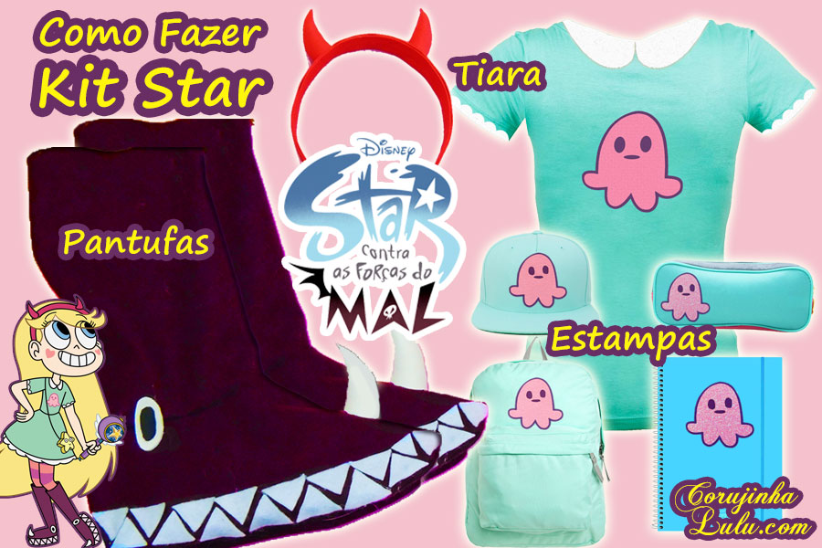 Diy Star VS As Forças do Mal: Como Fazer Kit com Pantufa + Tiara + Estampa -  Corujices da Lu | ©CorujinhaLulu.com corujinhalulu corujinha lulu luciene sans passo a passo tutorial manualidades how to disney channel xd star vs the forces of evil las fuerzas del mal
