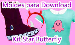 Download: Kit Star Butterfly - Pantufa + Tiara + Estampa (Star VS As Forças do Mal) | ©CorujinhaLulu.com Como Fazer Kit com Pantufa + Tiara + Estampa -  Corujices da Lu corujinhalulu corujinha lulu luciene sans passo a passo tutorial manualidades how to disney channel xd star vs the forces of evil las fuerzas del mal