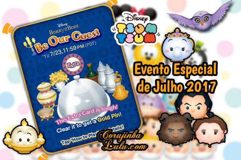Disney Tsum Tsum - Be Our Guest é o Evento Especial de Julho 2017