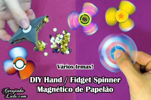 Diy : Como Fazer Fidget Spinner de Papelão + Hand Spinner Shuriken Magnético | Corujices da Lu