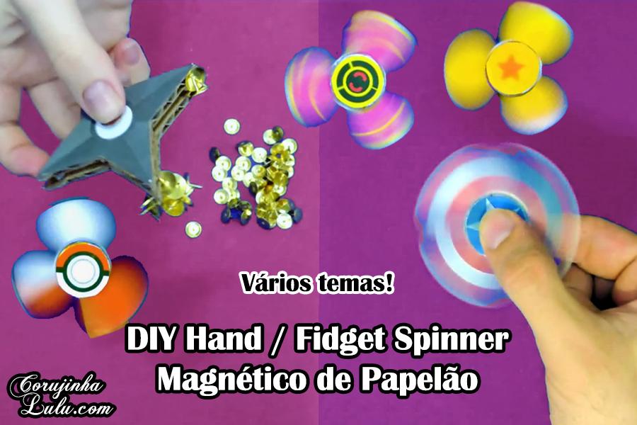 Diy : Como Fazer Fidget Spinner de Papelão + Hand Spinner Shuriken Magnético -  Corujices da Lu | como fazer hand spinner de papelão como fazer hand spinner magnético como fazer fidget spinner de papelão | ©CorujinhaLulu.com corujinhalulu corujinha lulu passo a passo tutorial artesanato manualidades how to