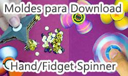 Download Grátis Gratuito Moldes Artes Diy : Como Fazer Fidget Spinner de Papelão + Hand Spinner Shuriken Magnético -  Corujices da Lu   ©CorujinhaLulu.com passo a passo tutorial artesanato corujinhalulu corujinha lulu de graça