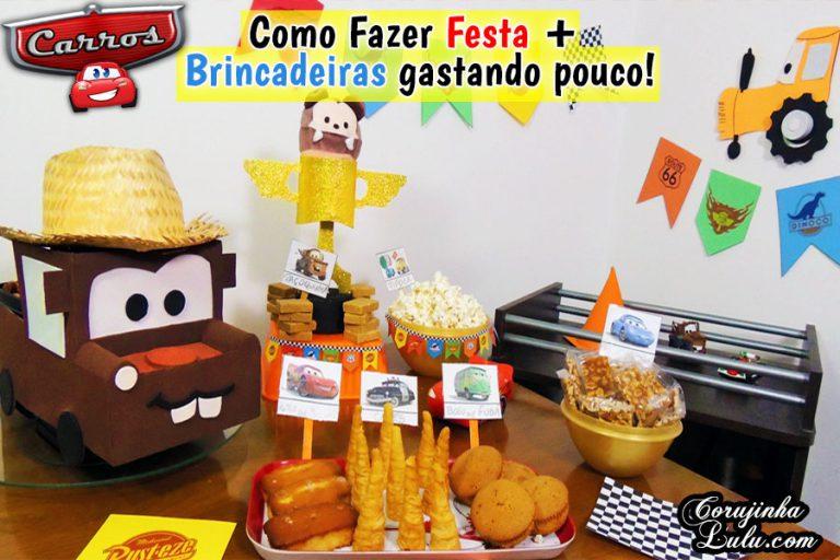 Diy Carros 3: Como Fazer Festa + Brincadeiras gastando pouco - Disney Pixar | Corujices da Lu
