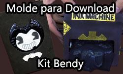 Download gratuito Download: Molde Kit Bendy And The Ink Machine corujinhalulu corujinha lulu ©CorujinhaLulu.com como fazer faça você mesmo passo a passo tutorial artesanato kids teen brinquedo trollagem pegadinha