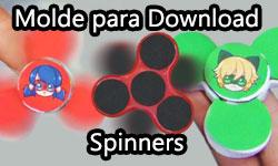 Download: Spinner da Ladybug e Spinner do Cat Noir (Miraculous As Aventuras de Ladybug) | ©CorujinhaLulu.com corujinha lulu corujinhalulu corujices da lu