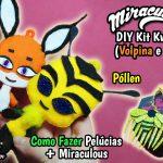Diy Miraculous : Como Fazer Kit Kwami Trixx (Volpina) e Pollen (Queen Bee) com Colar + Broche + Pente + Pelúcias | Corujices da Lu